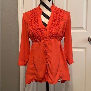 Tops - Pink/orange blouse